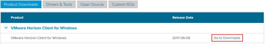 Horizoncloud VMware Horizon View Client Installation/Upgrade